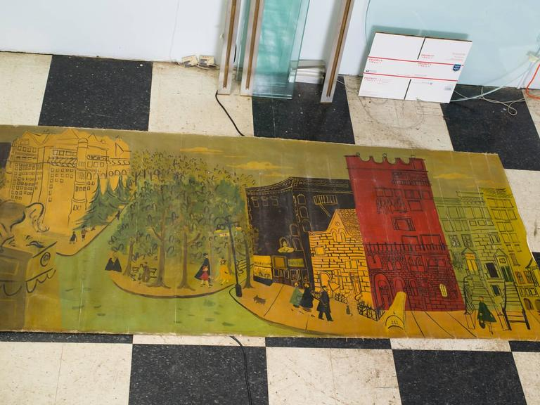 13 foot long 1940s mural of central park at 1stdibs for Central park mural