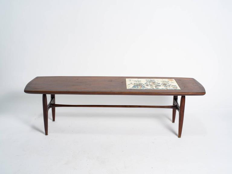 Alvin Hollingsworth Tile Top Teak Coffee Table For Sale At 1stdibs