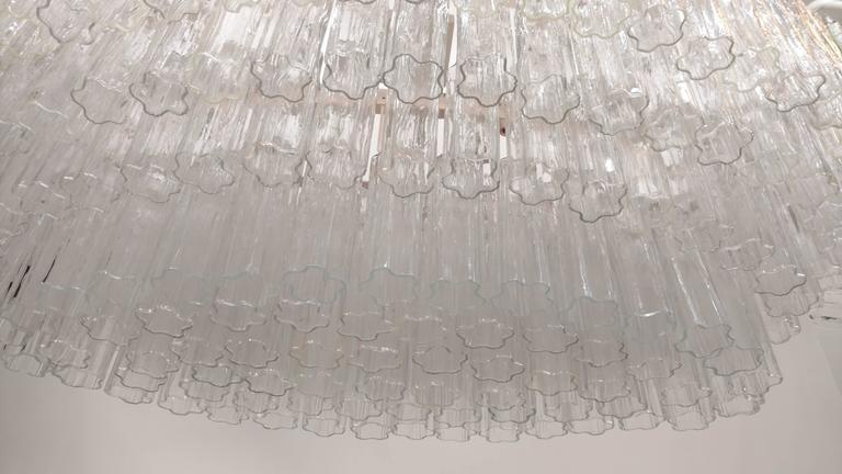 Art Glass Mid-Century Venini Tronchi Glass Chandelier For Sale