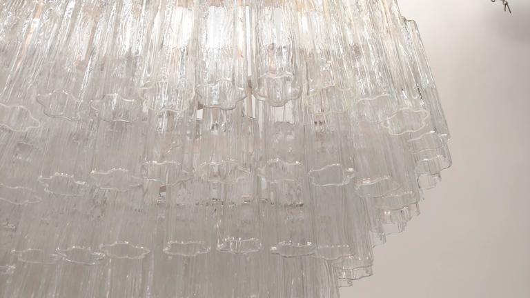 Mid-Century Venini Tronchi Glass Chandelier For Sale 1