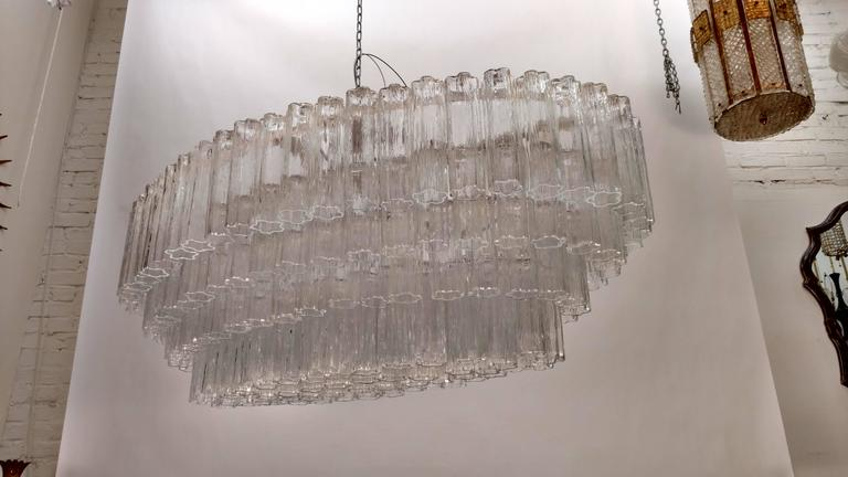 20th Century Mid-Century Venini Tronchi Glass Chandelier For Sale