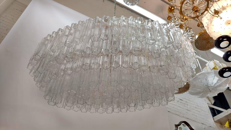 Mid-Century Venini Tronchi Glass Chandelier For Sale 3