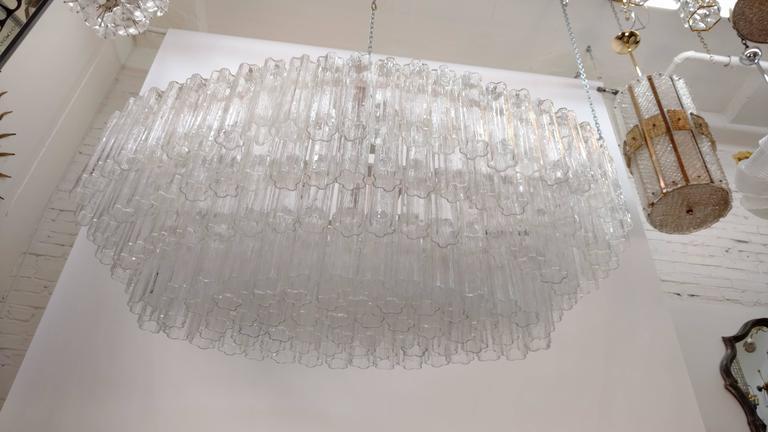 Mid-Century Venini Tronchi Glass Chandelier For Sale 4