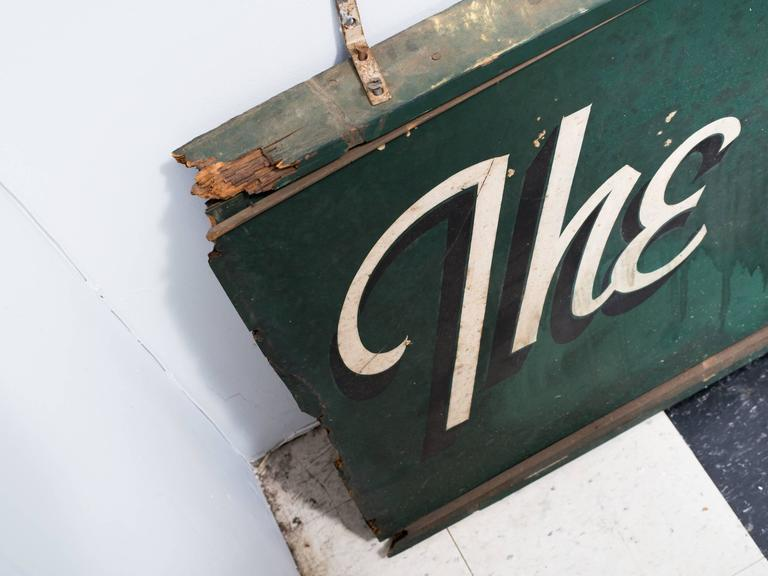 This masonite sign hung in a Westchester, NY beauty parlor in the 1950s.