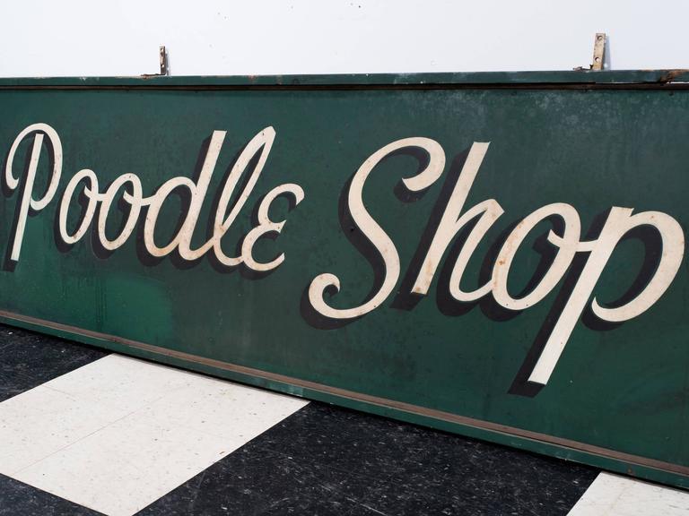 1950s Poodle Shop Sign For Sale 1
