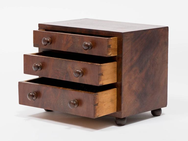 19th Century Salesman's Sample of a Chest For Sale 1