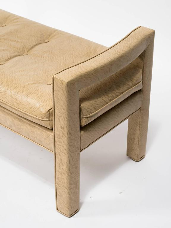 Custom Faux Ostrich 1970s Bench For Sale 1