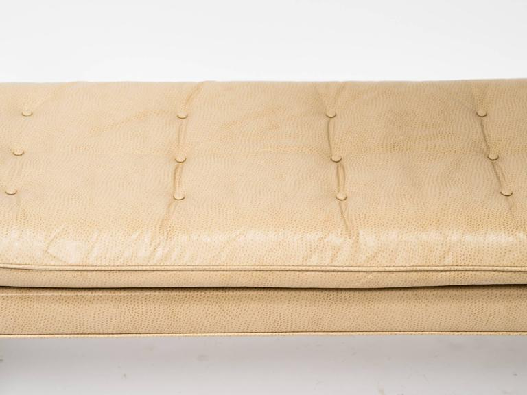 Late 20th Century Custom Faux Ostrich 1970s Bench For Sale
