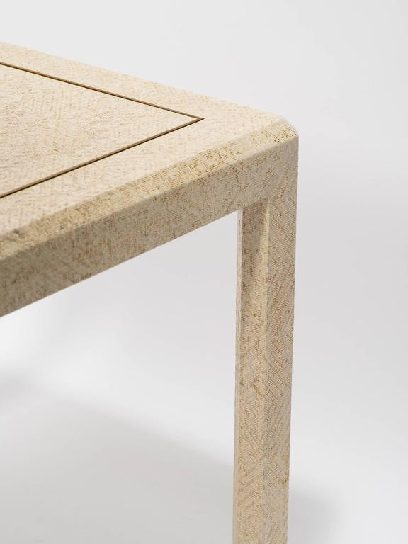 Raffia and Brass Inlay Card Table 2