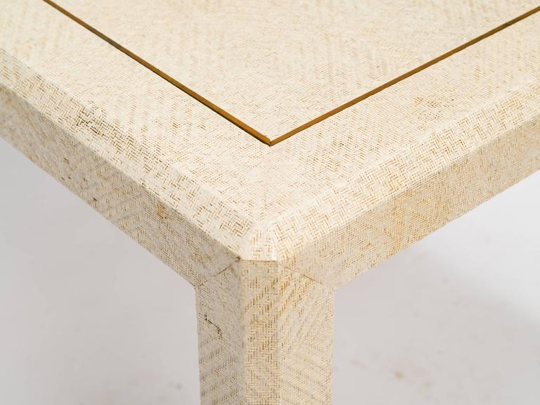 Raffia and Brass Inlay Card Table 4