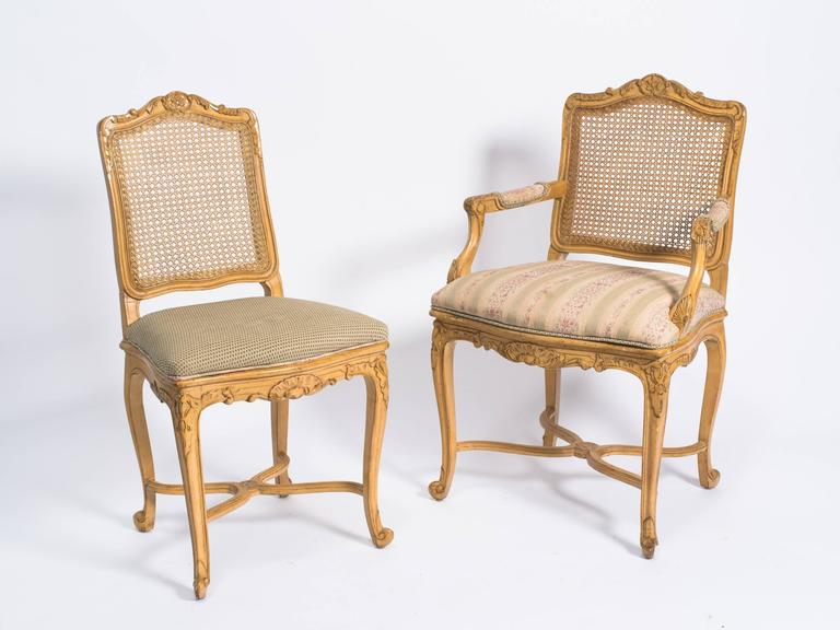 Eight 1960s french style carved wood chairs at 1stdibs for Sixties style chairs