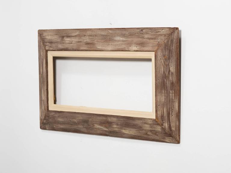 1950s pickled worm wood Frame For Sale at 1stdibs