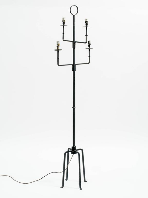 parzinger style iron floorlamp for sale at 1stdibs