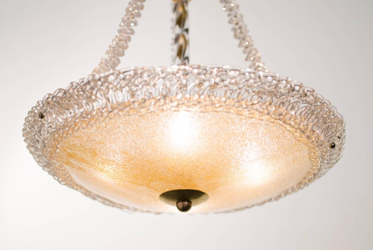 Murano Glass and Swarovski Crystal Chandelier For Sale 2