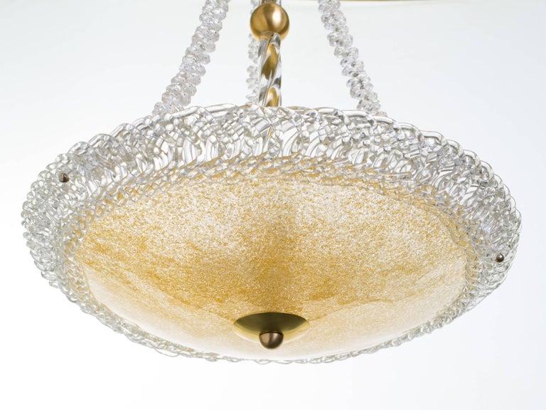 Murano Glass and Swarovski Crystal Chandelier For Sale 3