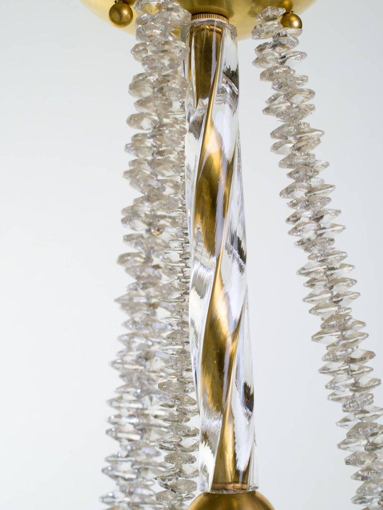 Murano Glass and Swarovski Crystal Chandelier For Sale 1