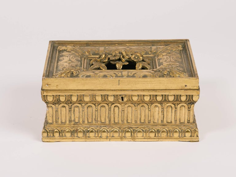 1920s giltwood and gesso box.