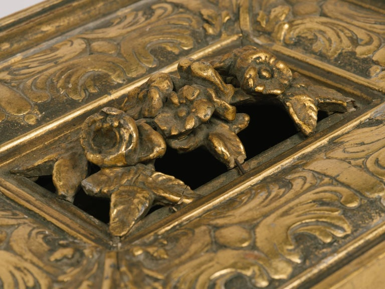 1920s Giltwood and Gesso Box For Sale 1