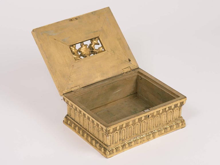 1920s Giltwood and Gesso Box For Sale 2