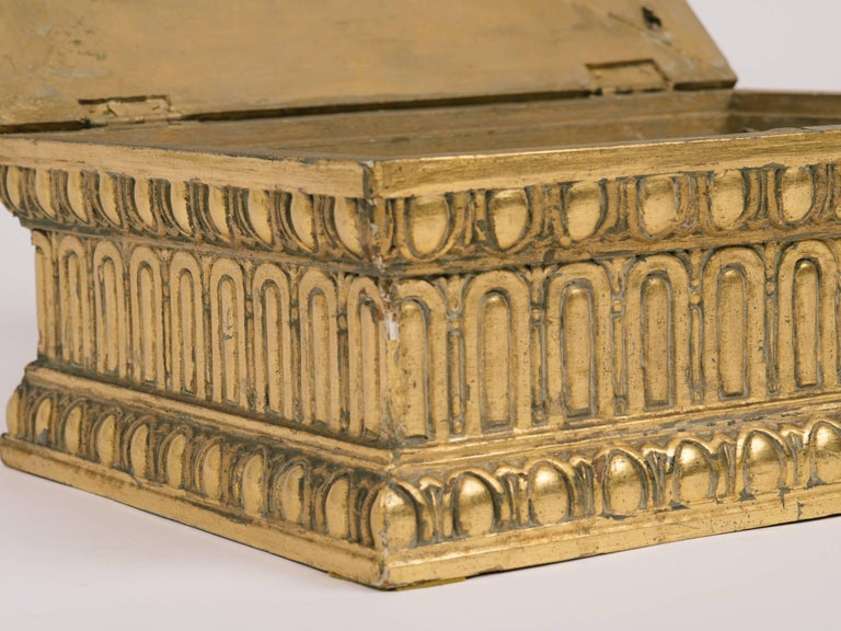 1920s Giltwood and Gesso Box For Sale 3