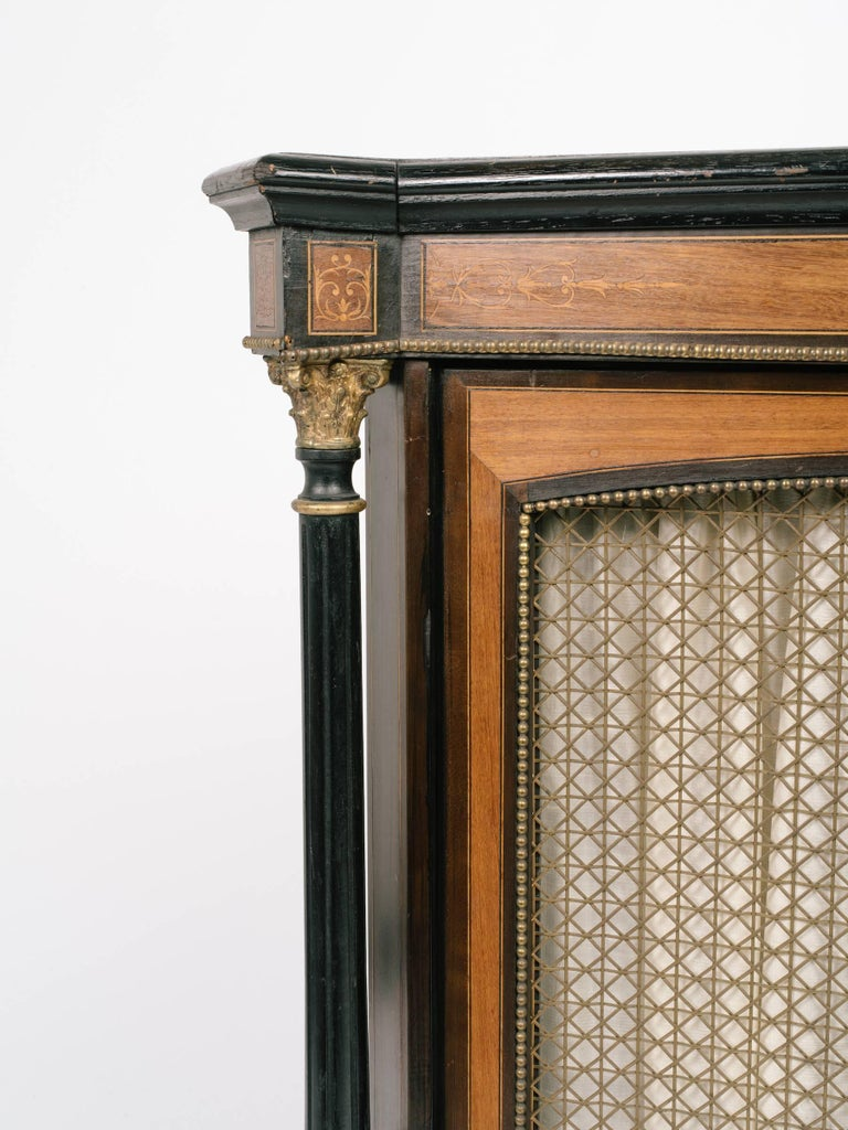 1880s victorian cabinet with ebonized columns for sale at Victorian columns