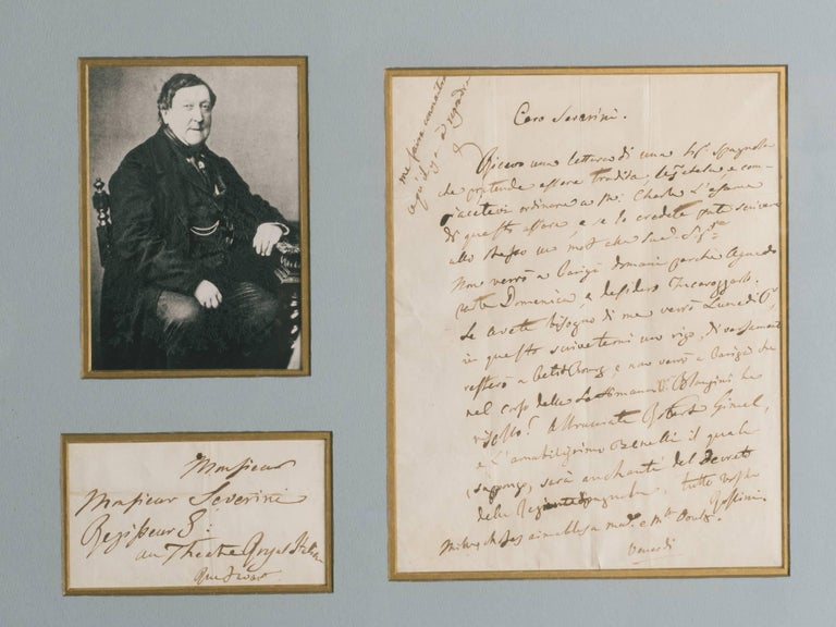 Rossini signed letter.