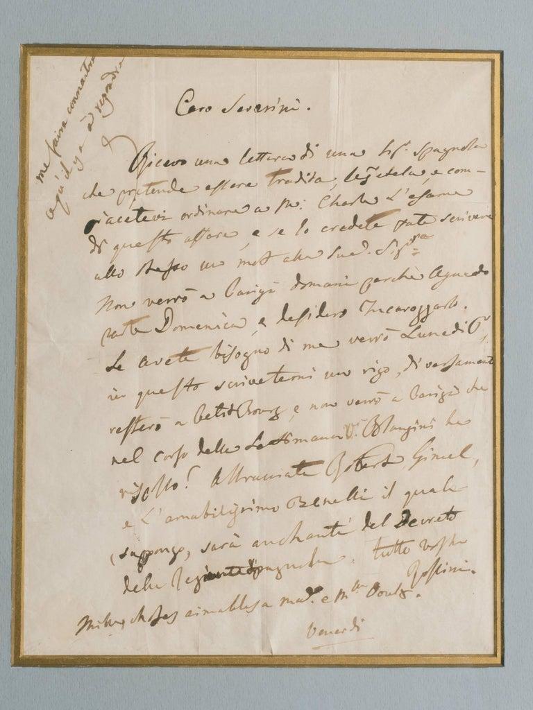 Rossini Signed Letter For Sale 1