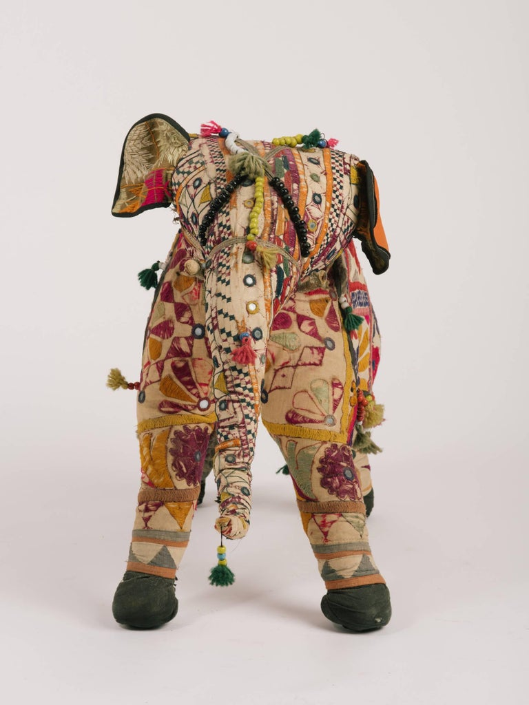 Handmade elephant from India. Hand beeded.