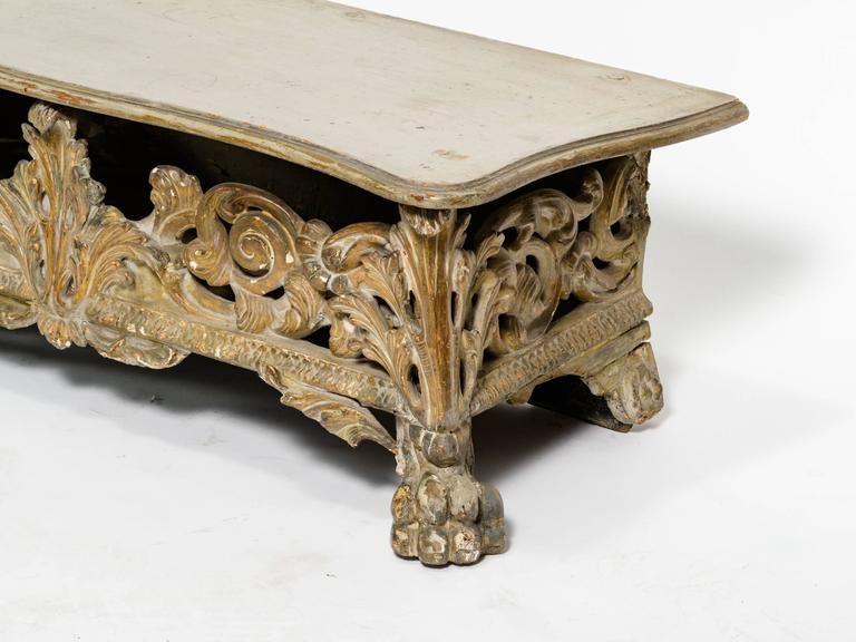 Italian Baroque Bench In Good Condition For Sale In Tarrytown, NY