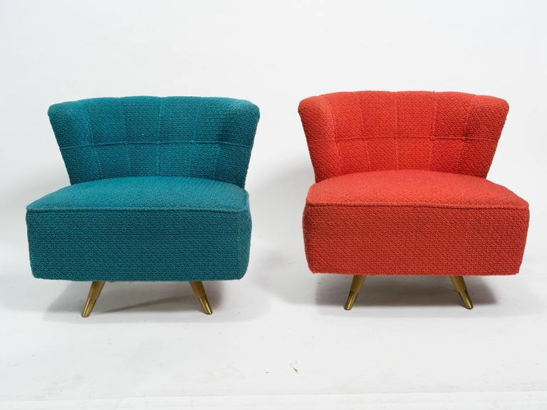 Pair of Kroehler 1950s Swivel Lounge Chairs In Good Condition For Sale In Tarrytown NY & Pair of Kroehler 1950s Swivel Lounge Chairs at 1stdibs