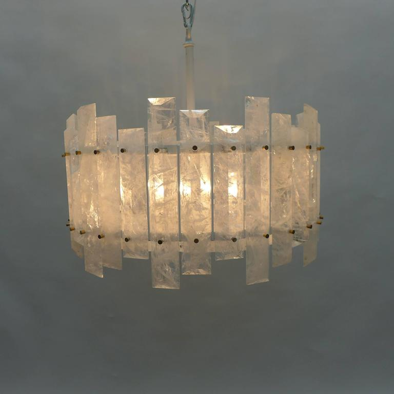 Pair Of Rock Crystal Chandeliers For Sale At 1stdibs