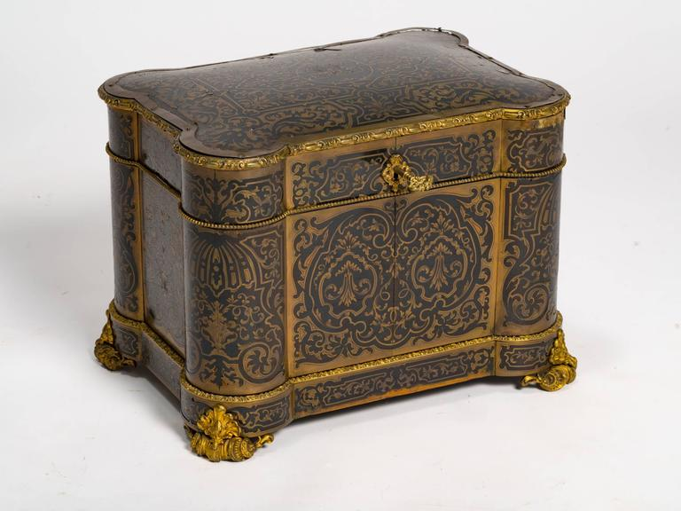 Late 19th Century Boulle Tantalus by Tahan Paris