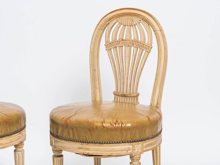 Pair Of 1920u0027s French Hot Air Balloon Side Chairs 2