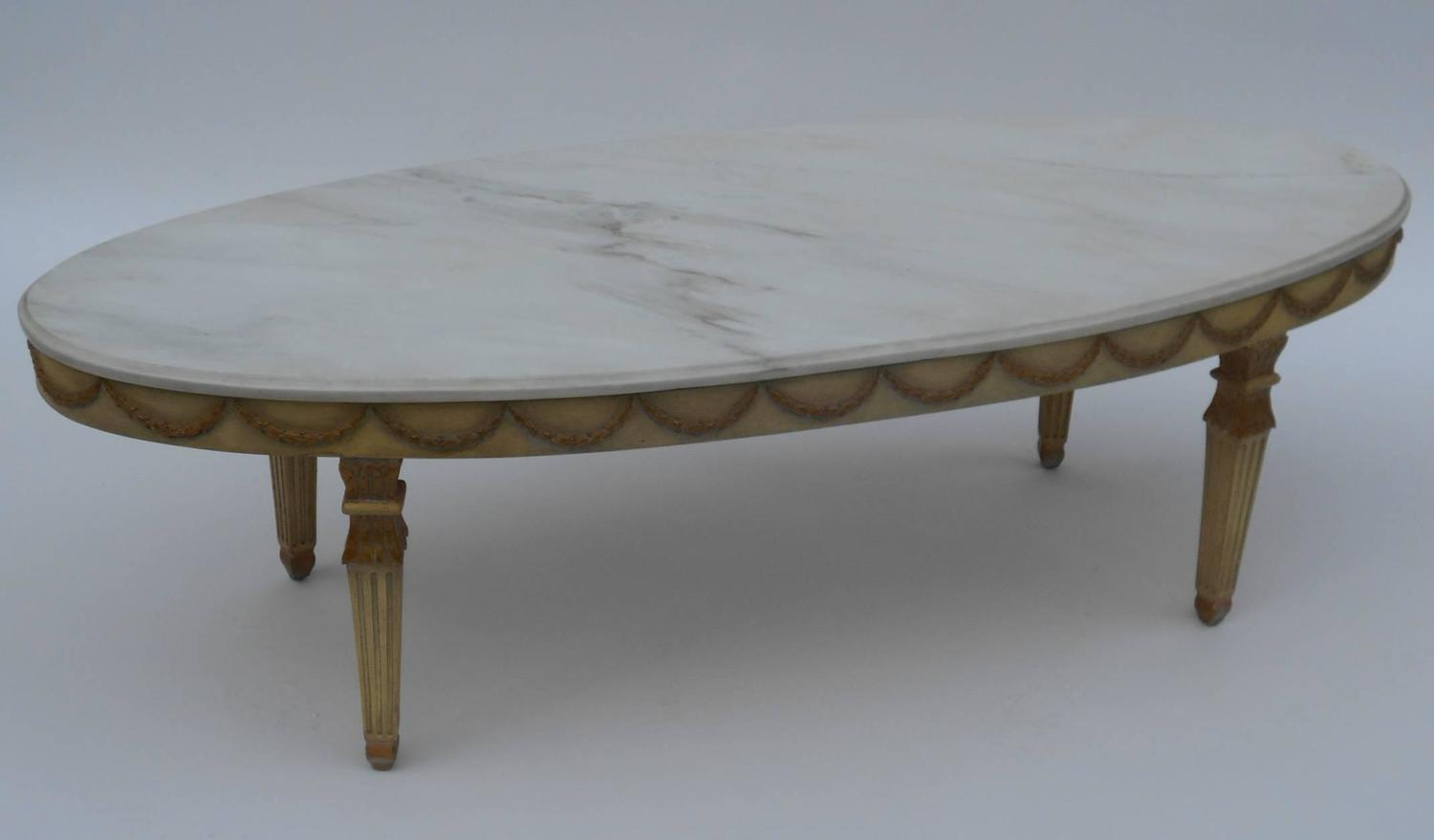 Italian marble top coffee table at 1stdibs for Stone topped coffee tables