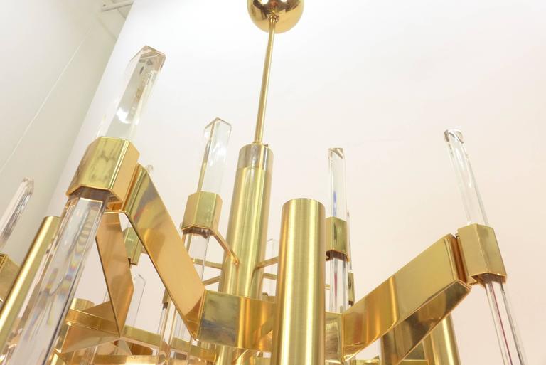 20th Century Chandelier by Gaetano Sciolari For Sale