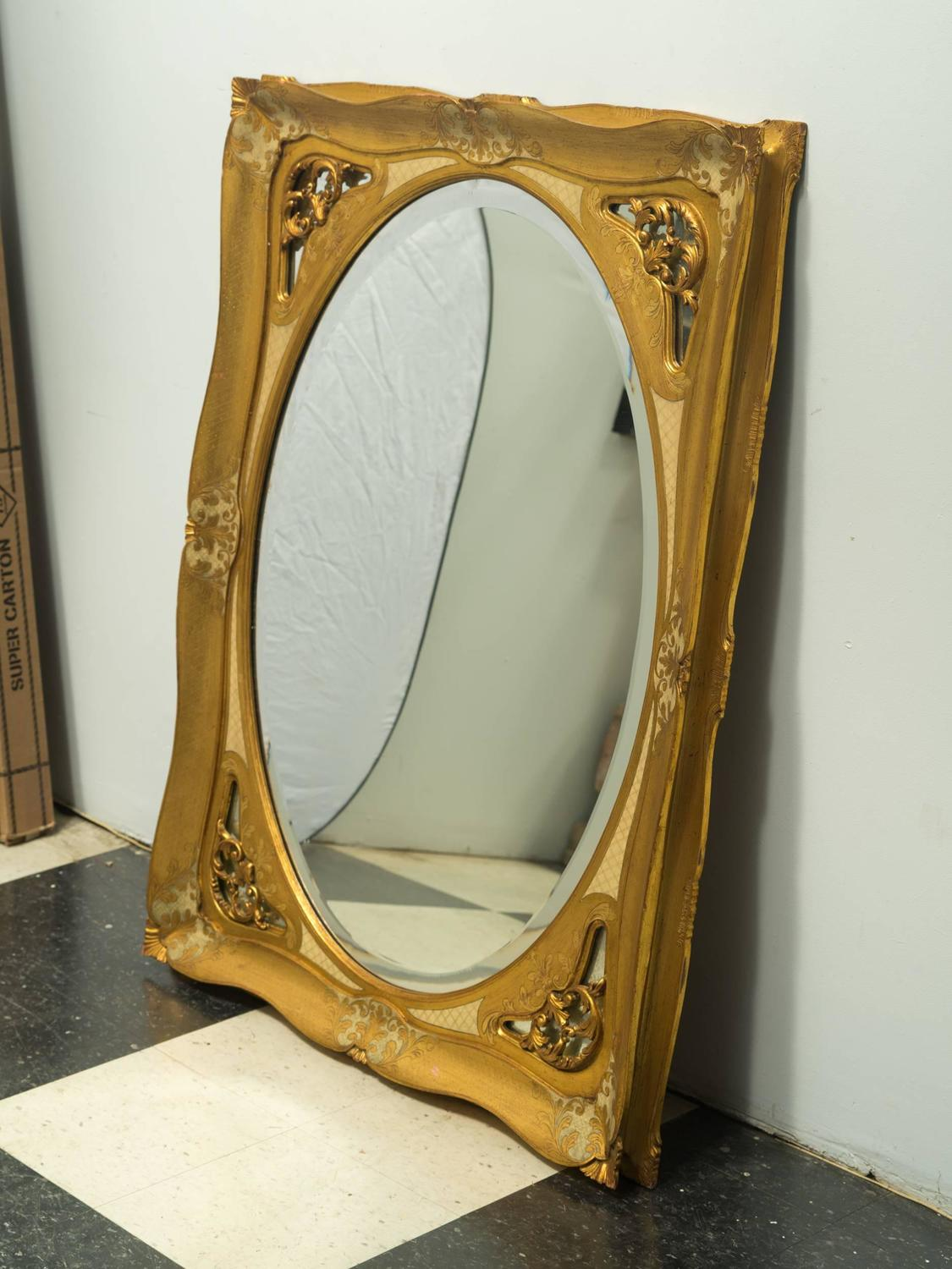 Large giltwood florentine wall mirror for sale at 1stdibs for Large wall mirrors for sale