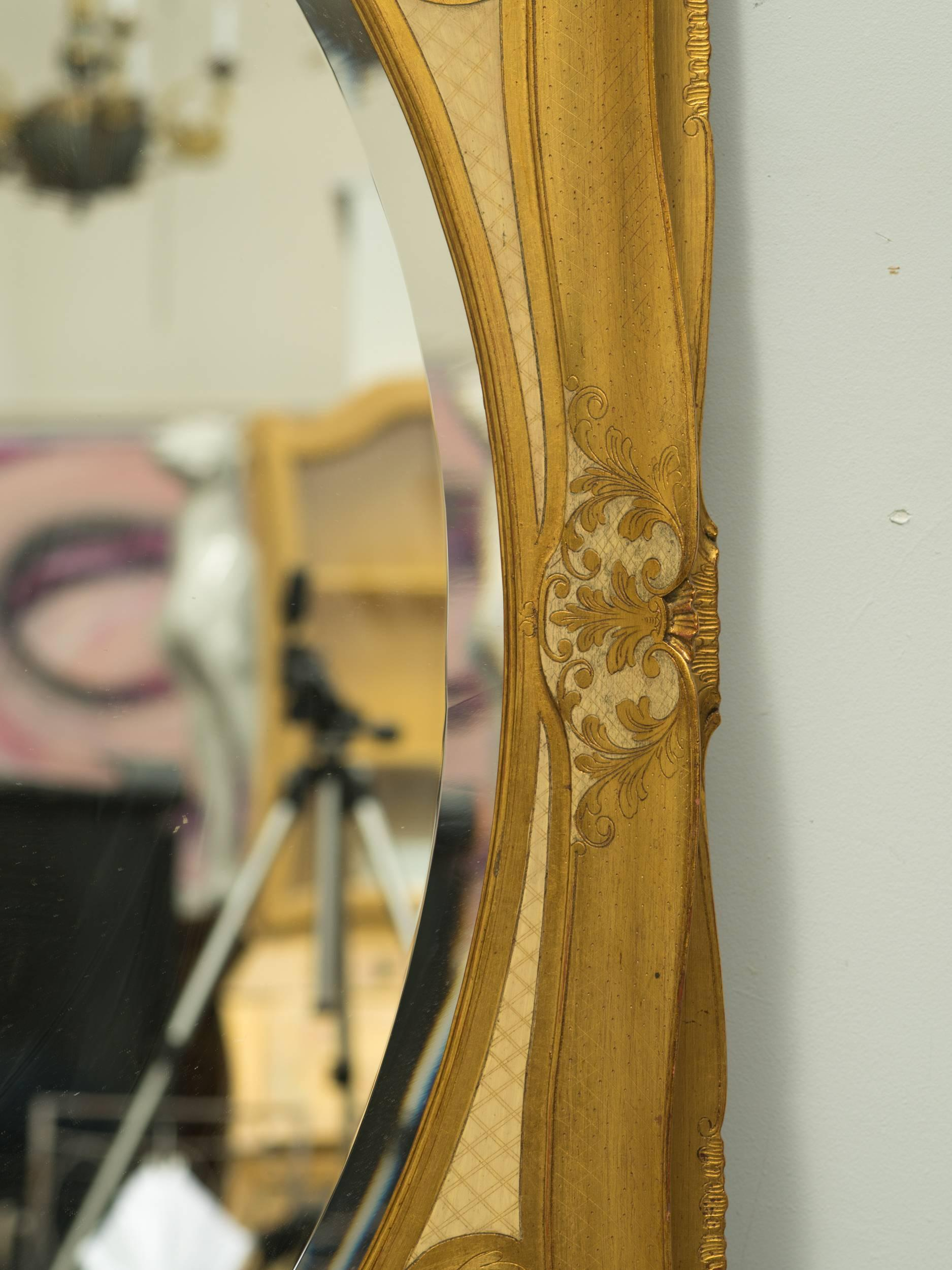 Large Giltwood Florentine Wall Mirror For Sale at 1stdibs