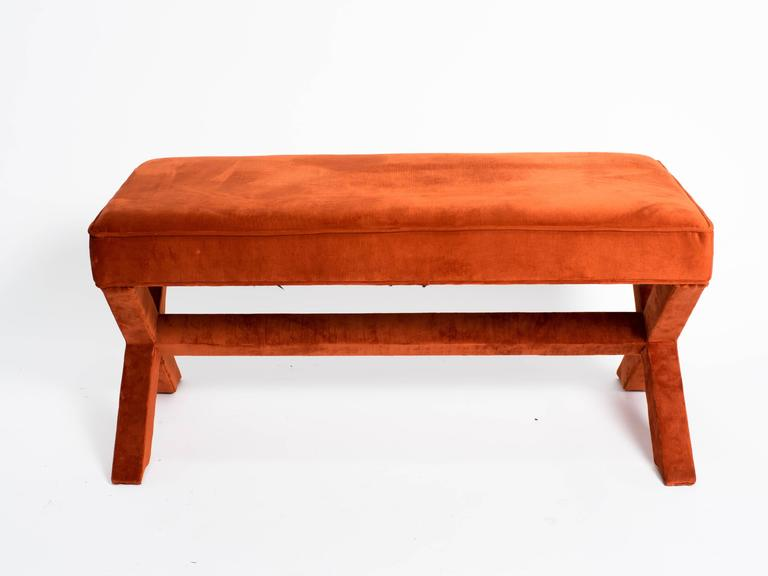"""Billy Baldwin Style Long """"X"""" Bench For Sale at 1stdibs"""