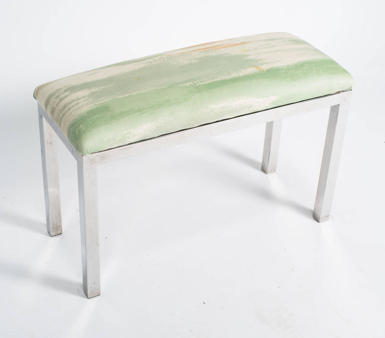Mid-Century chrome and upholstered bench.