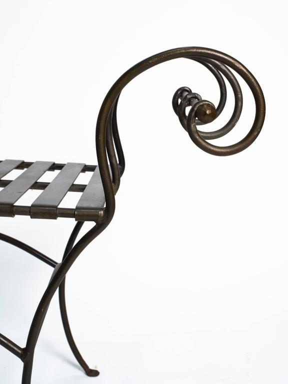 Classical Scroll Arm Iron Bench For Sale At 1stdibs