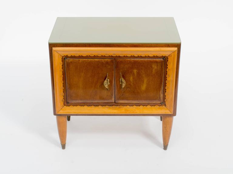 Pair of italian modern nightstands for sale at 1stdibs for Modern nightstands for sale