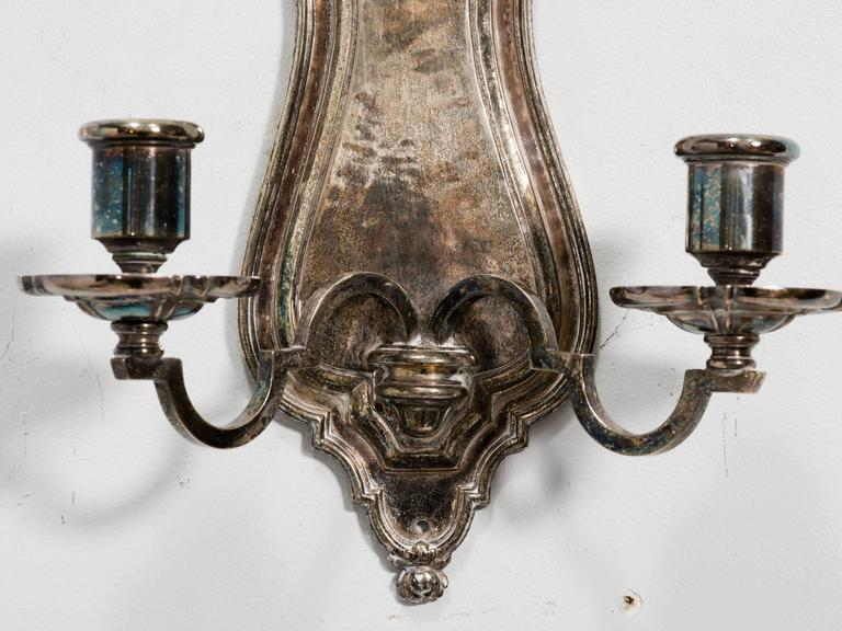 Pair of Silver plated Wall Sconces by E.F. Caldwell 5