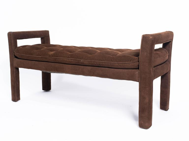 Long upholstered tufted bench for sale at 1stdibs Long upholstered bench