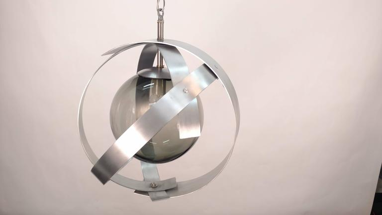 American Orb Aluminium Chandeliers For Sale