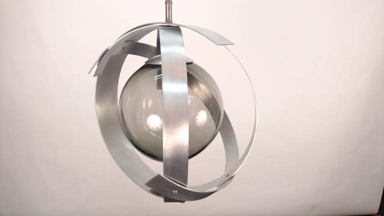 Orb Aluminium Chandeliers In Good Condition For Sale In Tarrytown, NY