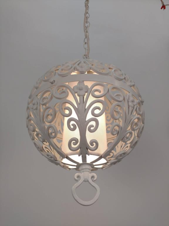 White round ornate chandelier pendant for sale at 1stdibs white round ornate chandelier pendant for sale 2 aloadofball Image collections