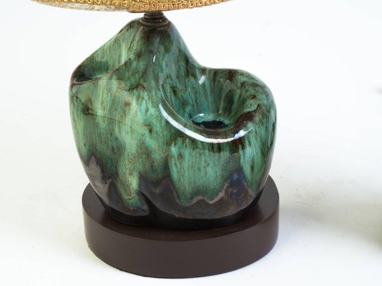 petite glazed ceramic lamps for sale at 1stdibs. Black Bedroom Furniture Sets. Home Design Ideas