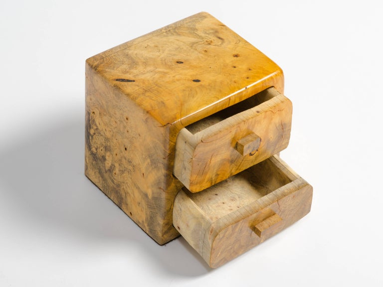 Mid-20th Century Birds Eye Maple Box For Sale