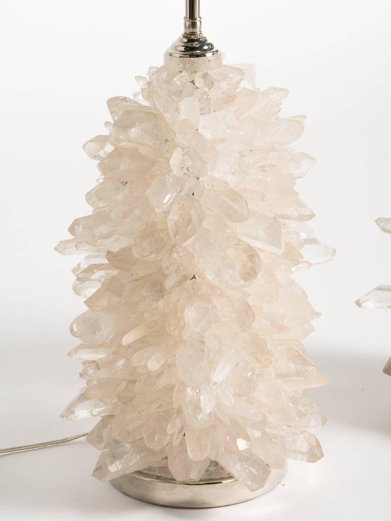 Rock crystal cluster quartz lamps.
