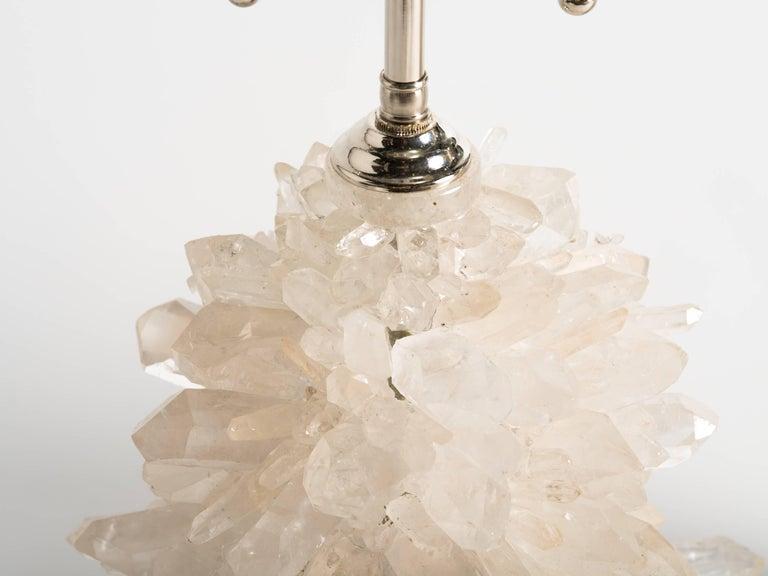 American Rock Crystal Cluster Quartz Lamps For Sale